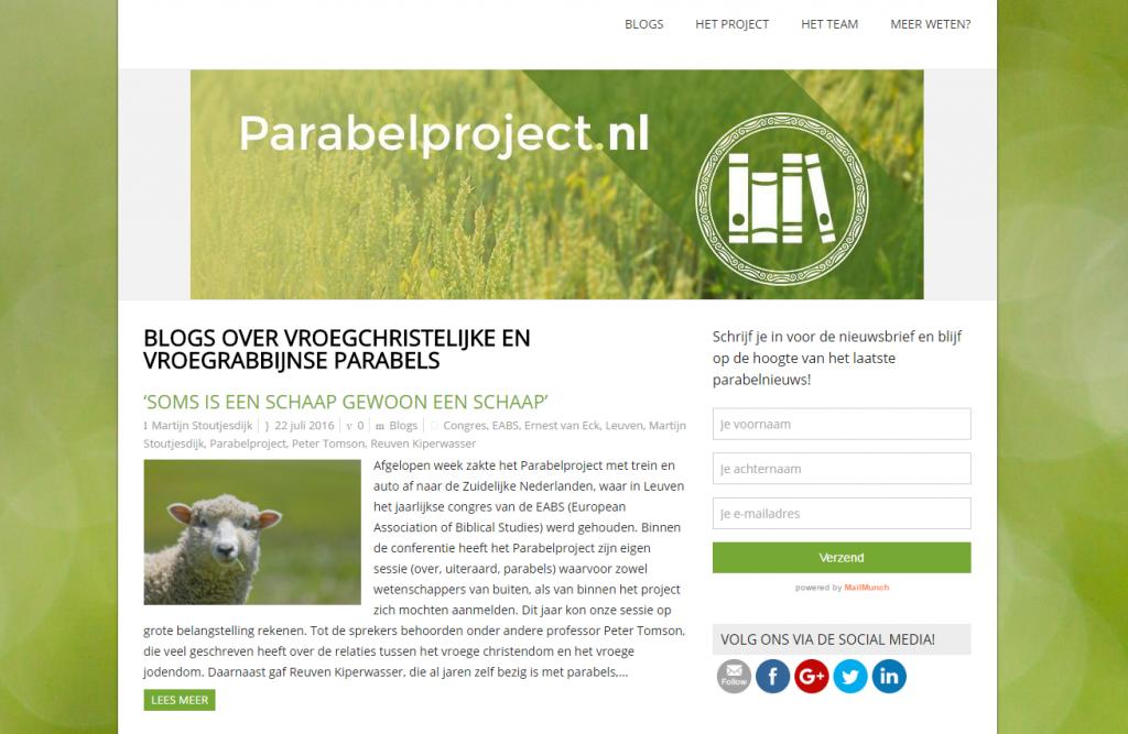 Onze projectwebsite: www.parabelproject.nl
